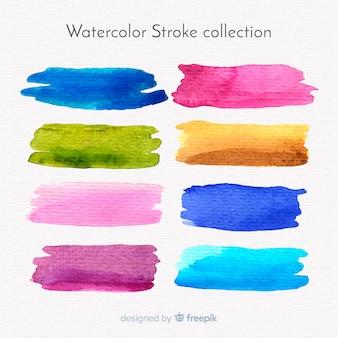 Watercolor strokes collection