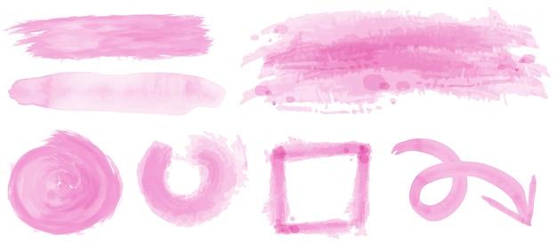 핑크 색상의 수채화 스트로크