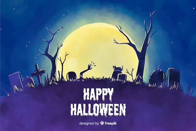 Watercolor style background for halloween