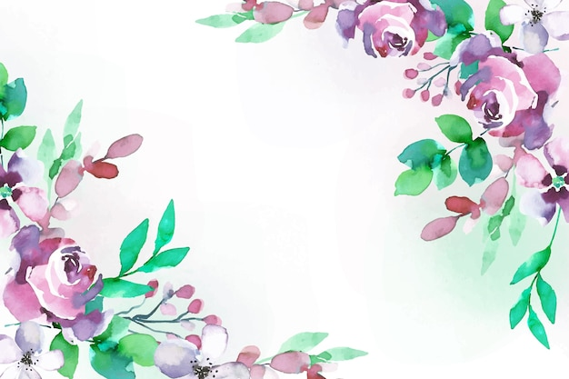 Watercolor style floral background