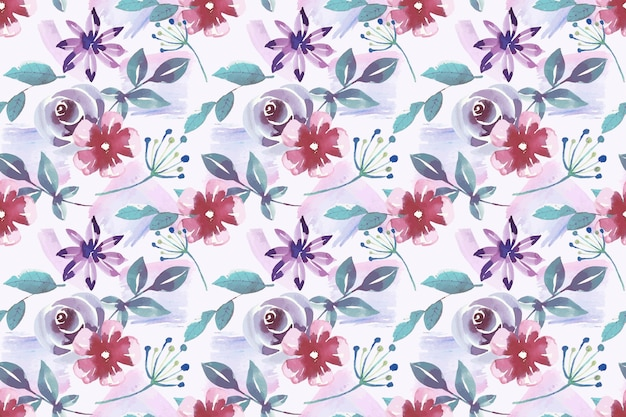 Watercolor style floral pattern