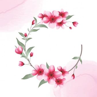 수채화 스타일 꽃 틀