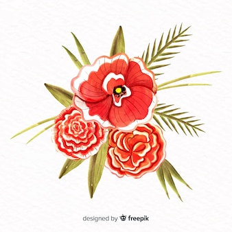 Watercolor style flower
