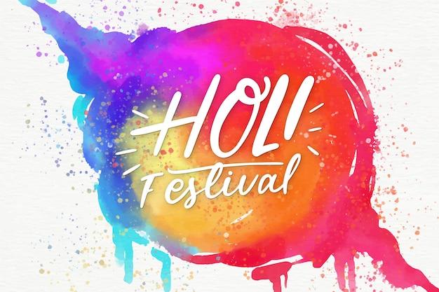 Акварель стиль холи фестиваль с пятном