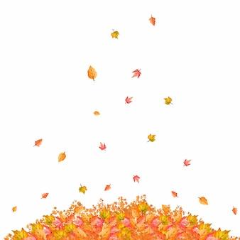 紅葉の水彩風の山
