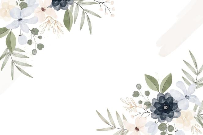 수채화 스타일 빈티지 꽃 배경
