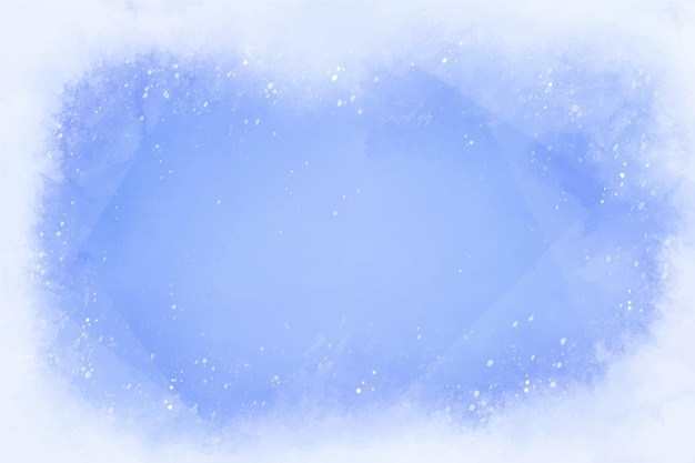 Watercolor style winter background