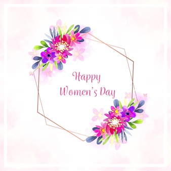Watercolor style for womens day