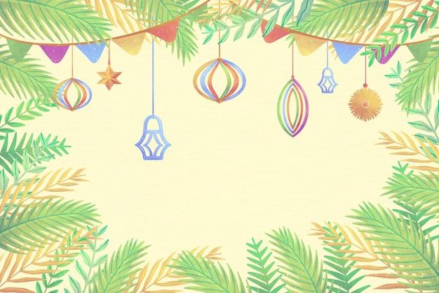 Watercolor sukkot background