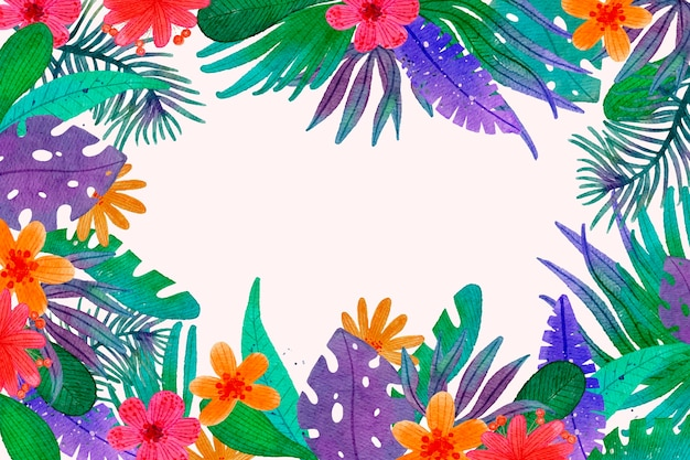 Watercolor summer background
