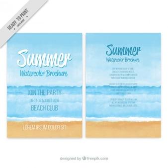 Watercolor summer brochure