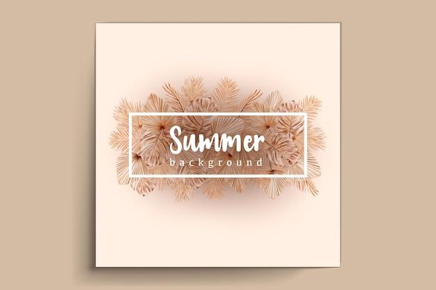Carta floreale e foglie estate acquerello
