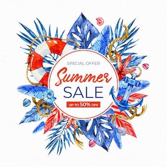 수채화 여름 판매 conept