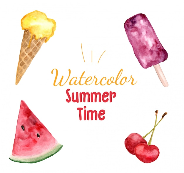Watercolor summer time