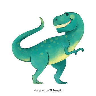 Watercolor t-rex background