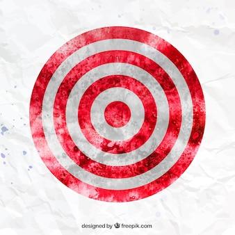 Watercolor target
