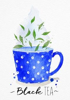 Watercolor tea cup