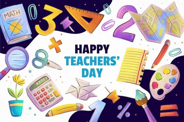 Акварельный день учителя фон