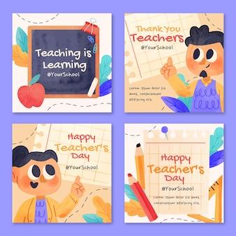 水彩教師の日instagram投稿コレクション