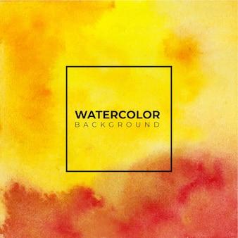 水彩テクスチャ背景ハンドペイント。白い紙に色がはねかける