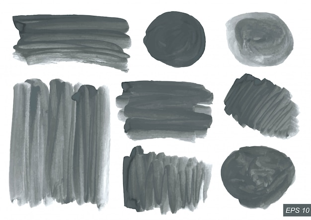 Watercolor texture set.