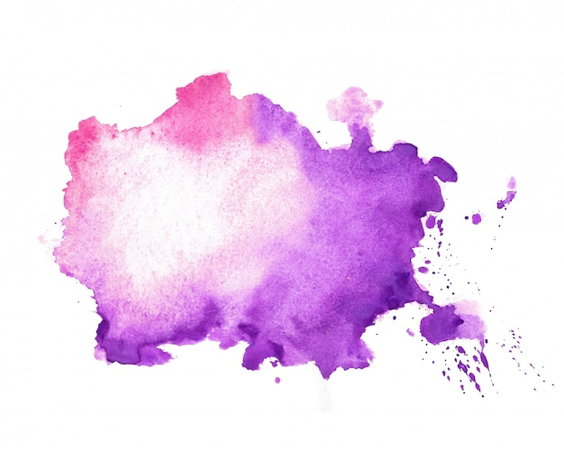 Watercolor texture stain in purple color shade