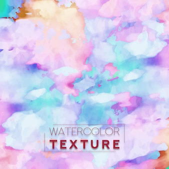 Watercolor Texture With Coloring strokes