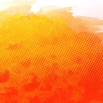 오렌지 수채화 질감 배경