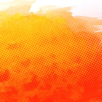 Watercolor textured background, orange