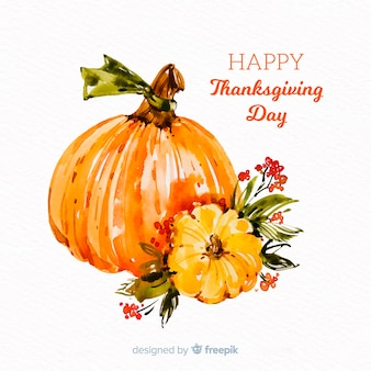 Watercolor thanksgiving background concept