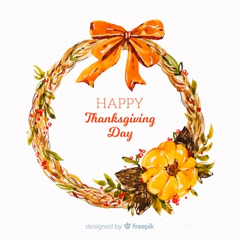 Watercolor thanksgiving background design