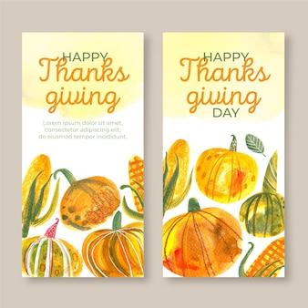 Priorità bassa dell'acquerello del ringraziamento