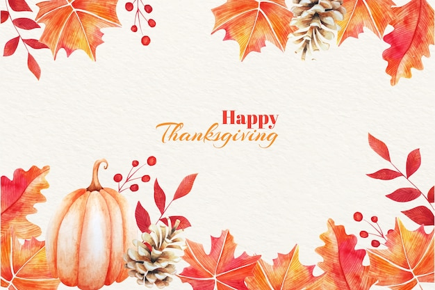 Watercolor thanksgiving background