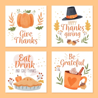 Watercolor thanksgiving instagram posts