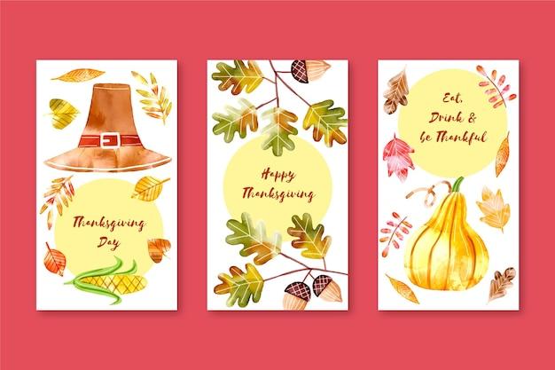 水彩感謝祭instagramストーリーコレクション