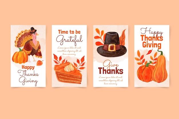 Коллекция историй в instagram с днем благодарения