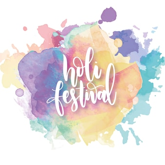 Watercolor theme for holi festival