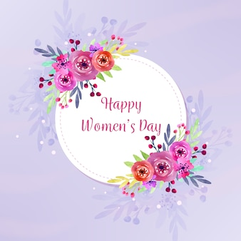 Watercolor theme for womens day celebration