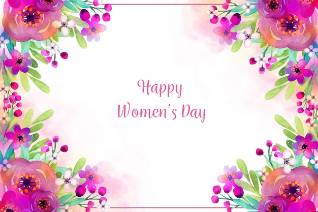 Watercolor theme for womens day event