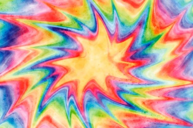 Acquerello tie-dye sfondo arcobaleno