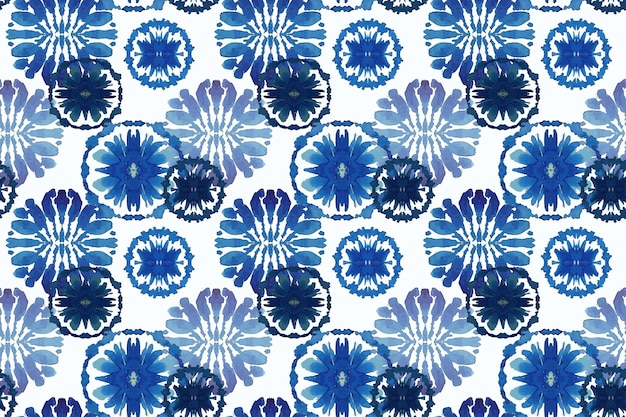 Watercolor traditional shibori pattern