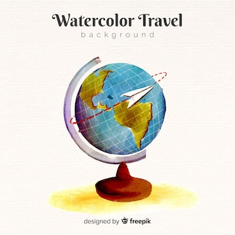 Watercolor travel background