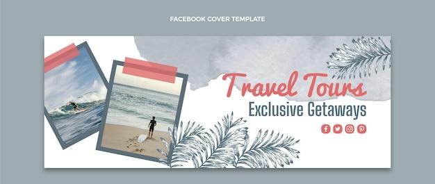 Copertina facebook di viaggio ad acquerello