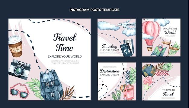 Watercolor travel ig post