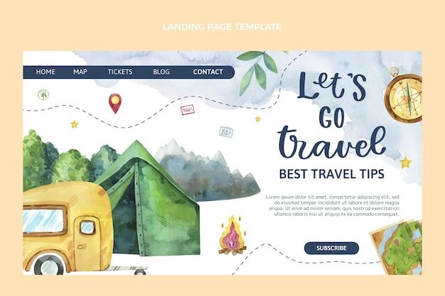 Pagina di destinazione del viaggio ad acquerello