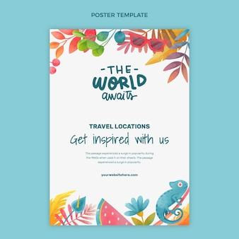 Poster di viaggio ad acquerello