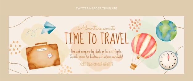 Заголовок твиттера акварель путешествия