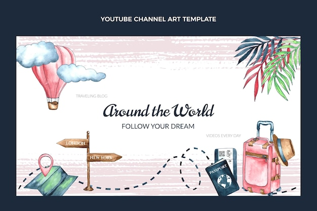 Watercolor travel youtube channel