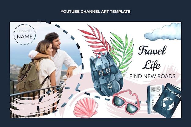 수채화 여행 유튜브 미리보기 이미지