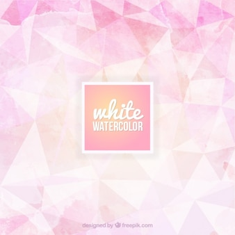 Watercolor triangles background